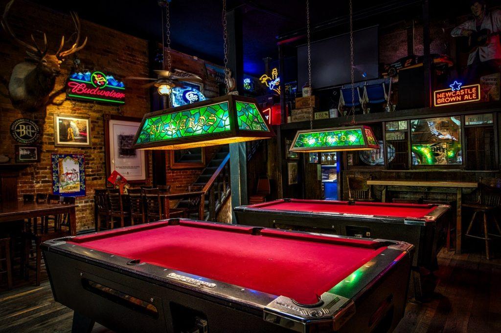 creepy billiard room